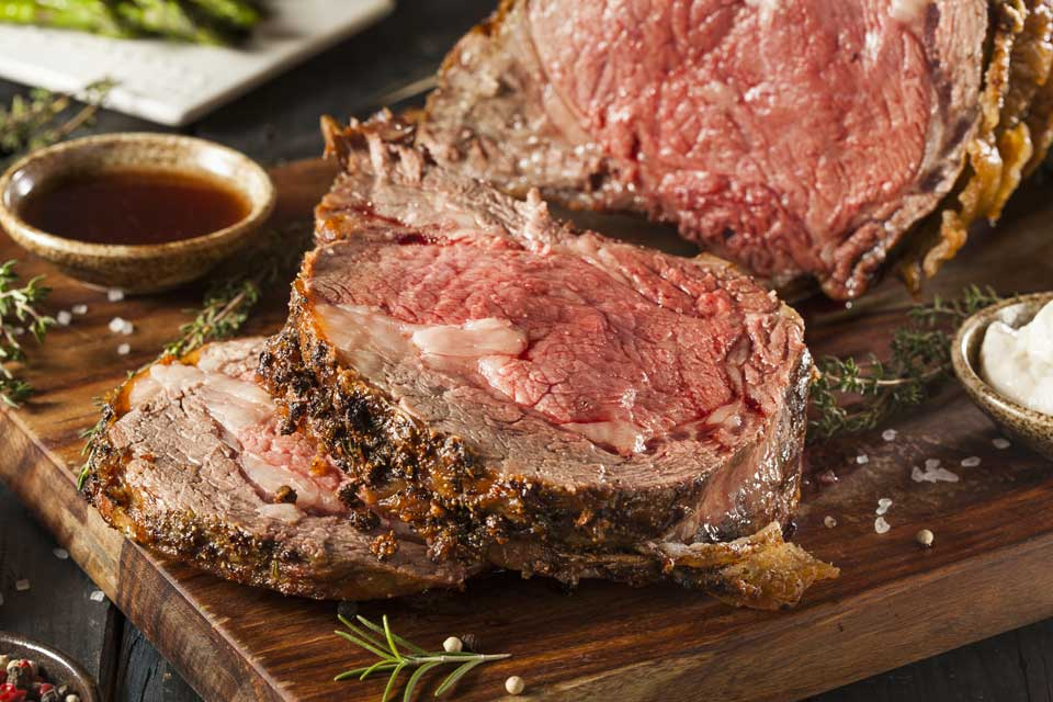 Try the delicious prime rib at Mario's Pizza Indio.